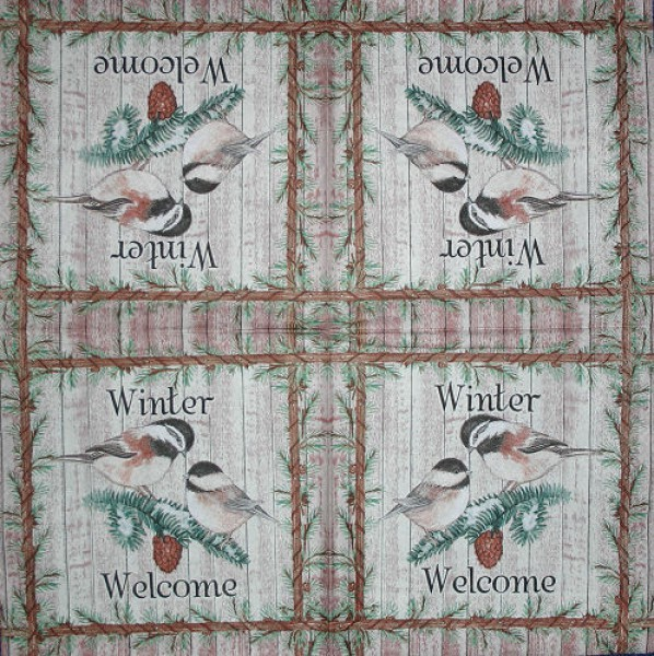 Serviette Welcome Winter