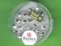 Glas-Rautenperle 6mm silber