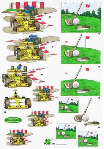 Motivbogen Formel 1 - Golf