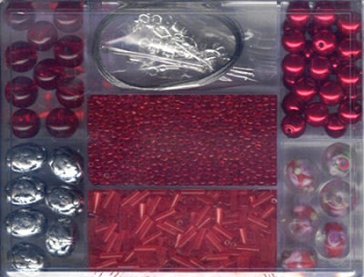 Mixbox Glasperlen rot ca.85g