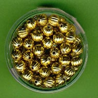 Rillenperle 6mm gold