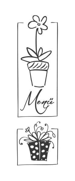 """Stempel """"Menü Flowers"""""""