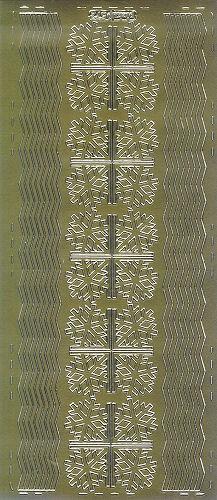 Sticker Weihnachtsecken und Linien 3 gold