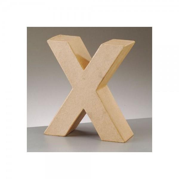 Papp Art Buchstabe X 17,5x15,8cm