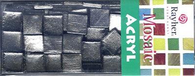 Mosaic Acryl silbergrau metallic