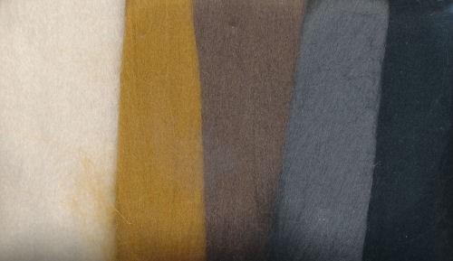 Merinowolle braun-schwarz töne 50g