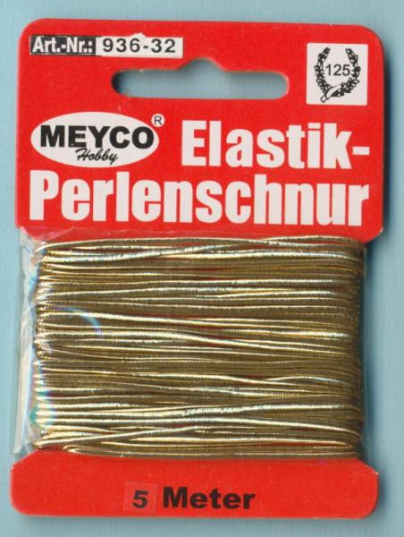 Elastikkordel silber 1,00mm 5m