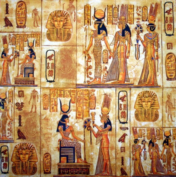 Serviette Ägypten orange