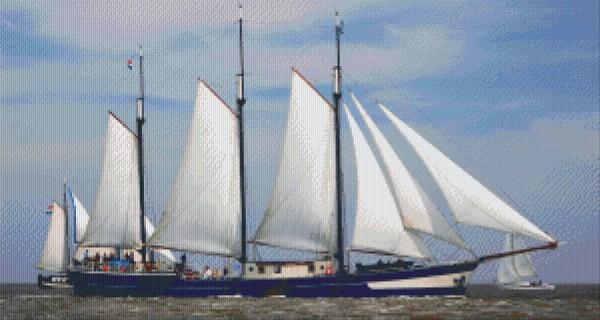 Set Segelschiff