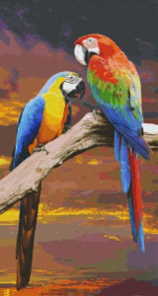 Pixel Set Papageien 2