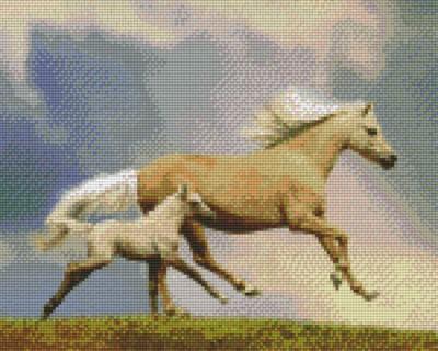 809353_Pixelset-Pferd-mit-Fohlen