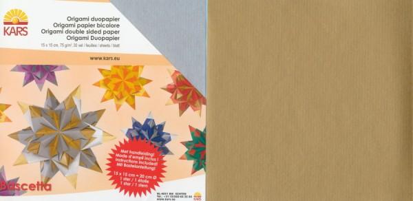 18585210_Bascettasterne-DUO-Papier-silber-gold-15x15cm-30-Blatt-75g