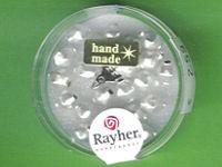 Glas-Rautenperle 6mm weiß matt