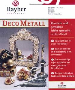 Deco Metall silber 14x14cm 5Blatt
