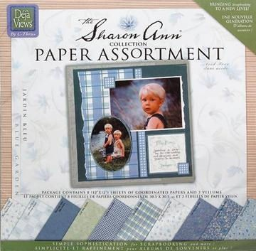 Sharon Ann Paper Assortment blue garden