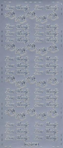 Sticker Zur Taufe2 silber