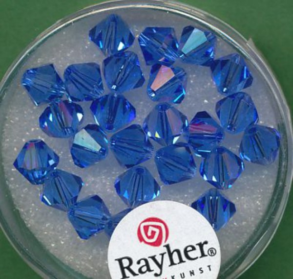 Swarovski Glasschliffperlen 6mm azurblau