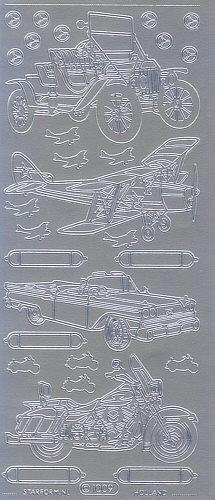 Sticker Fahrzeuge silber