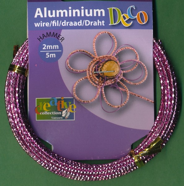 Aludraht 'Hammer' 2mm soft lila