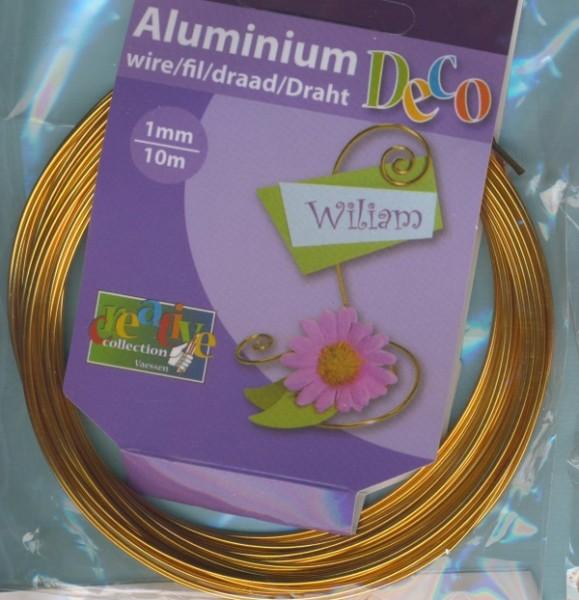 Aludraht 1mm gold 10m