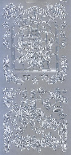 Sticker Weihnachtszeit silber