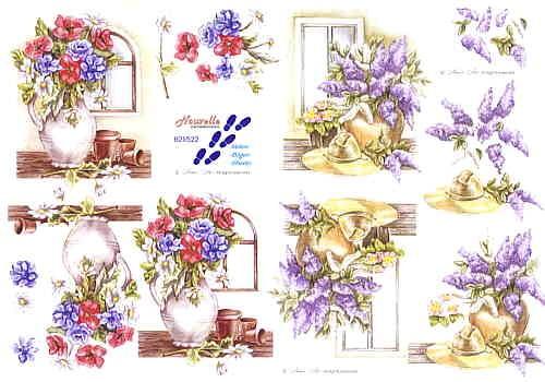 Motivbogen Blumenvase