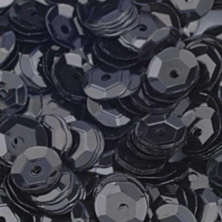 Pailletten gewölbt 6mm schwarz