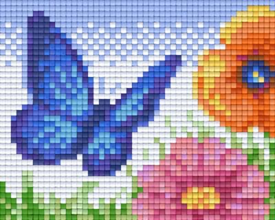801333_Pixelset-Schmetterling-mit-Blumen