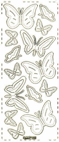 Sticker Schmetterling6 gold