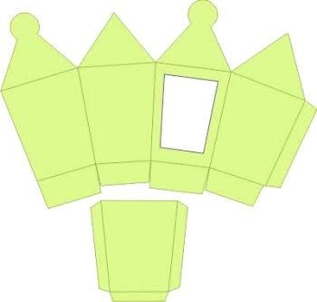3D-Laternenbox hellgrün