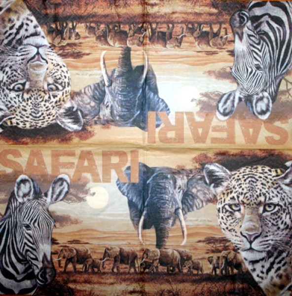 Serviette Safari beige