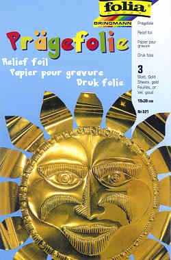 Prägefolie 3 Blatt gold 18,5x29,5cm
