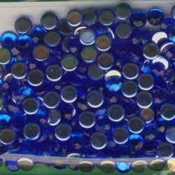 Schmucksteine 6mm blau