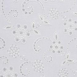 Vlies Ornament Blüten weiß