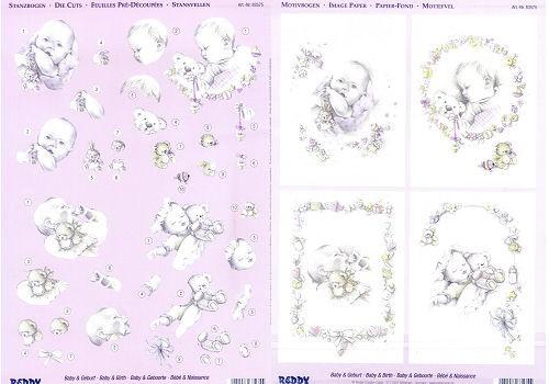 3D-Stanzbogen-Set Baby und Geburt 2