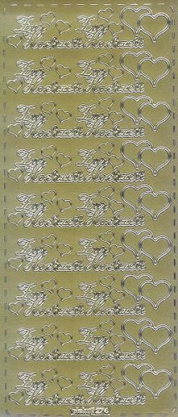 Sticker Zur Hochzeit 2 gold