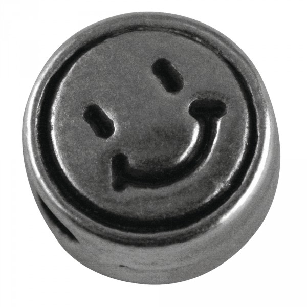 Rockstars Perle Smiley 7mm silber