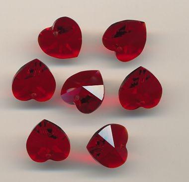 Swarovski Herz rot