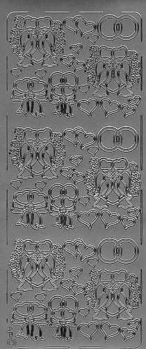 Sticker Turteltauben 3 silber