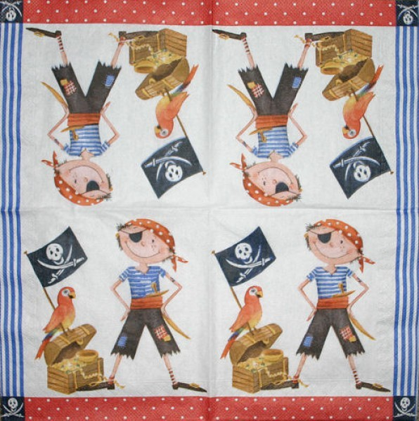 Serviette Piratenschatz