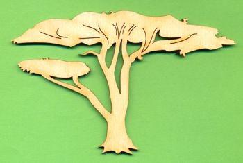 Holz-Deko Afrika-Baum alt 8cm