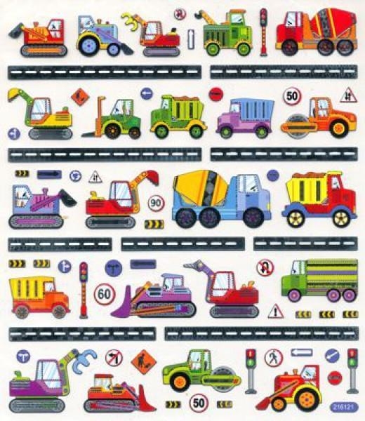 Design Sticker Baufahrzeuge