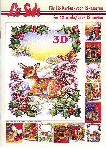 3d motivbuch weihnachten a5 bastelshop farbklecks. Black Bedroom Furniture Sets. Home Design Ideas