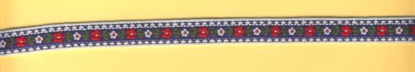 3822236 Trachtenborte 13mm blau-weiss lfdm