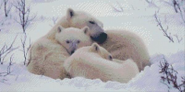 px810003_Pixelset-Eisbärenfamilie
