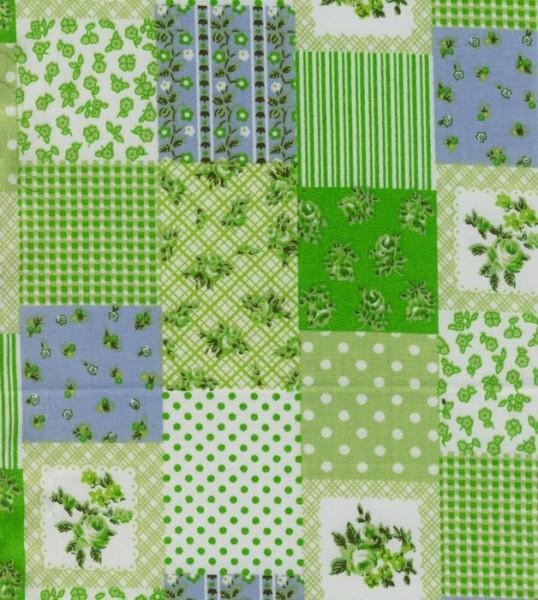 Tischband Patchwork grün