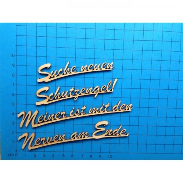 Holz-Deko Schriftzug Suche neuen Schutzengel