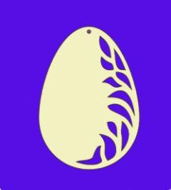 Holz-Deko Ei mit Ornament 6cm