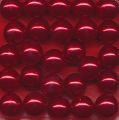 Wachsperlen 10mm rot