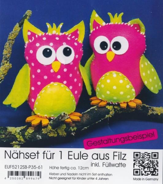 euf5212sbp3561_Filz-Nähset-Eule-mittel-pink-apfelgrün